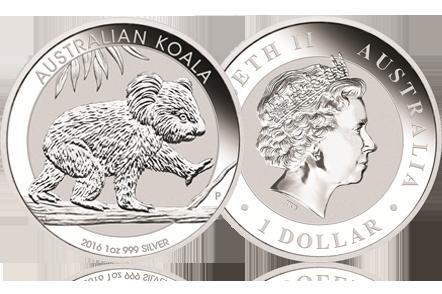 2016 Australia 1 oz Silver Koala