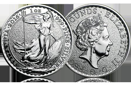 2016 Great Britain 1 oz Silver Britannia