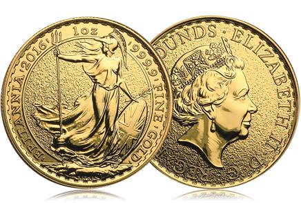 2016 Great Britain Gold 1 oz Britannia