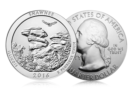 2016 5 oz Silver America the Beautiful Shawnee National Forest, IL