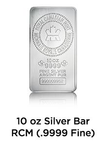 10 Ounce Silver Bar RCM