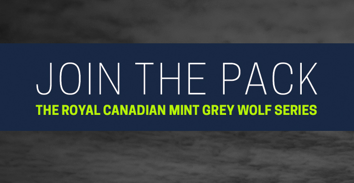 join the pack the royal canadian mint grey wolf series