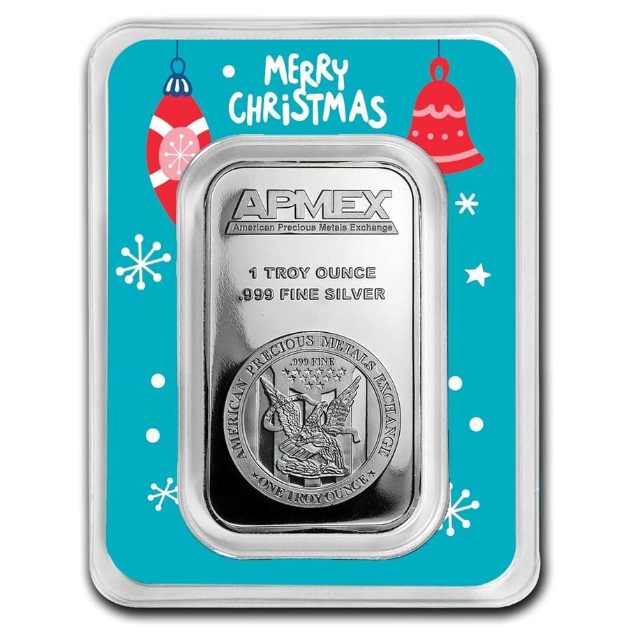 1 oz Merry Christmas Silver Bar
