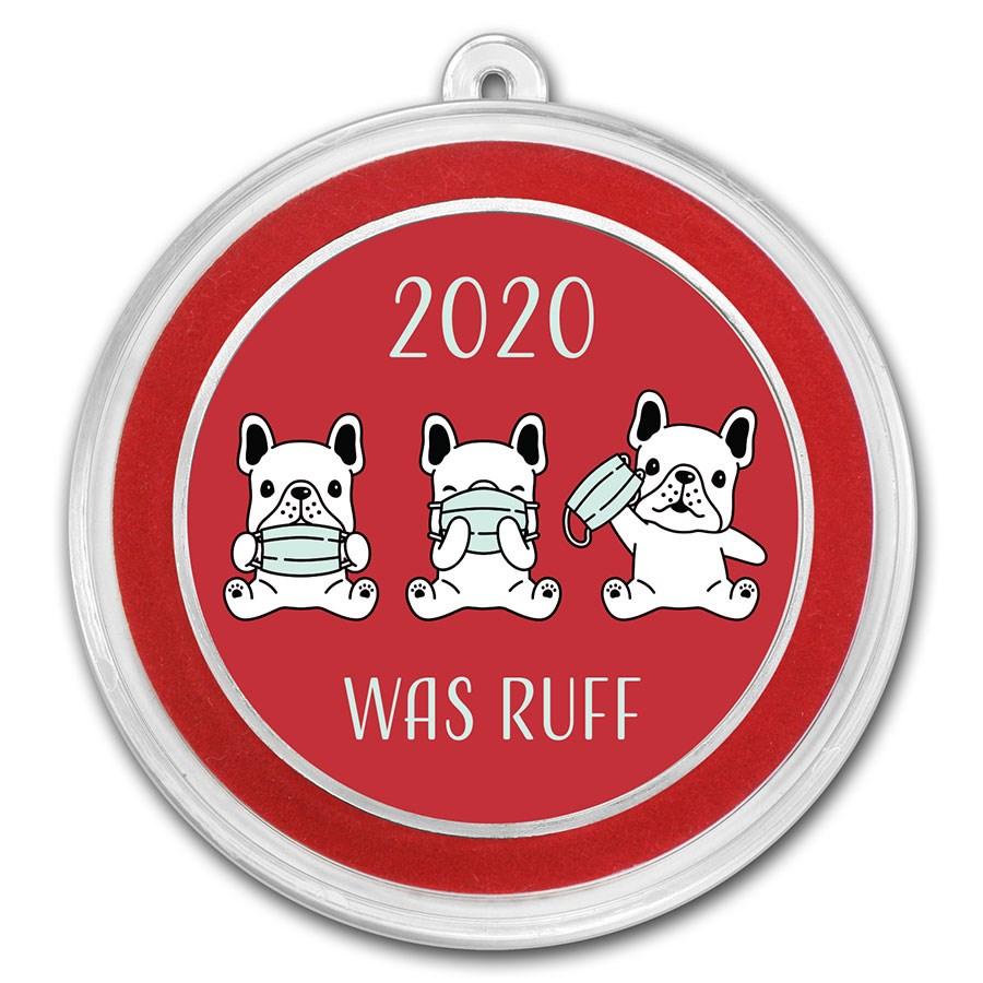 1 oz Silver 2020 Was Ruff Colorized Round