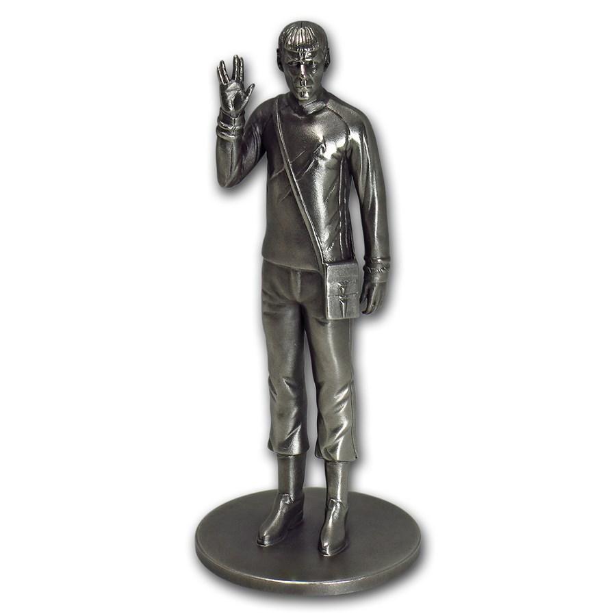 150 gram Silver Star Trek Commander Spock Statue - COA #1