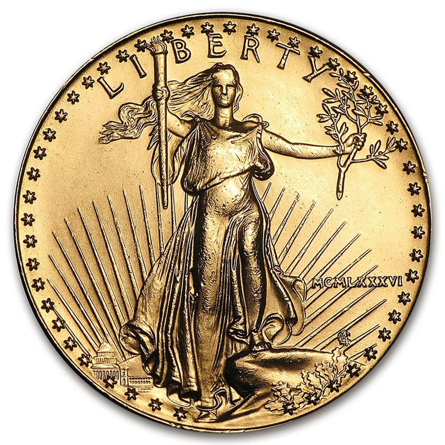 1986 1 oz American Gold Eagle BU Obv