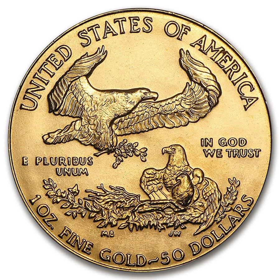 1986 1 oz American Gold Eagle BU Rev