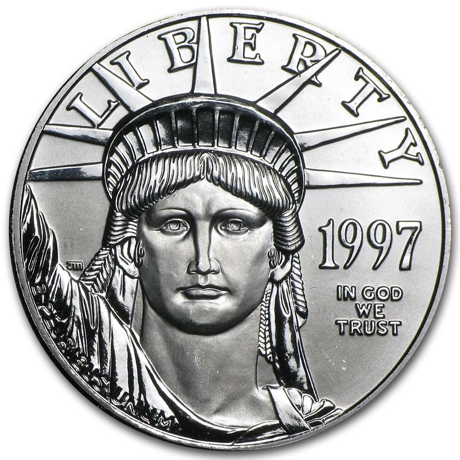 1997 1 oz American Platinum Eagle BU Obv