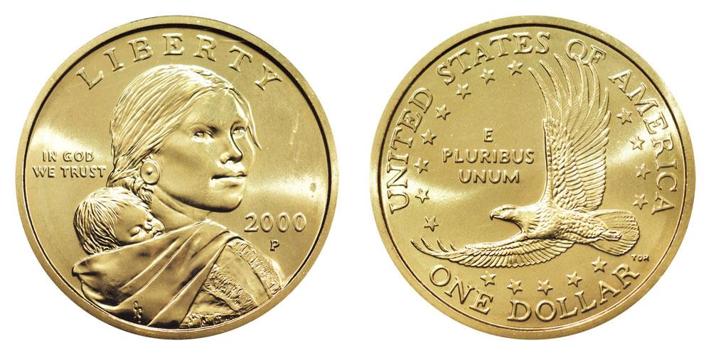"""2000-P """"Cheerios"""" Sacagawea Dollar"""