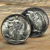 1938-D Walking Liberty Half Dollars