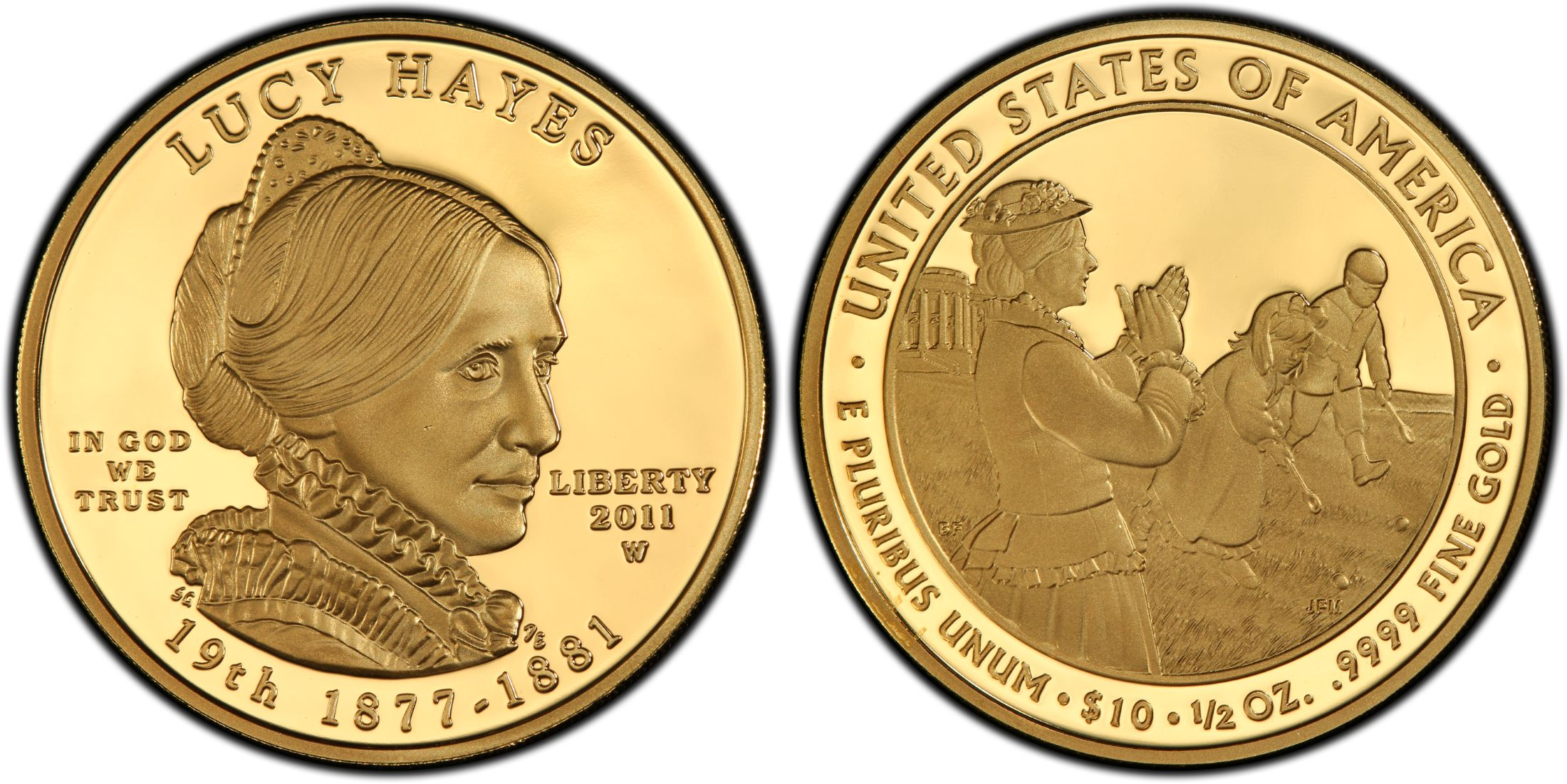 2011-W $10 Gold Lucy Hayes