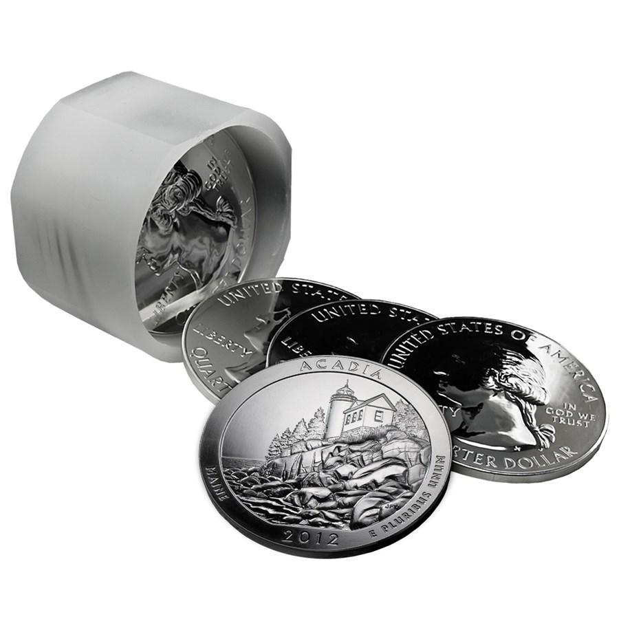 2012 Công viên quốc gia ATB Acadia Silver 5 oz, ME Roll