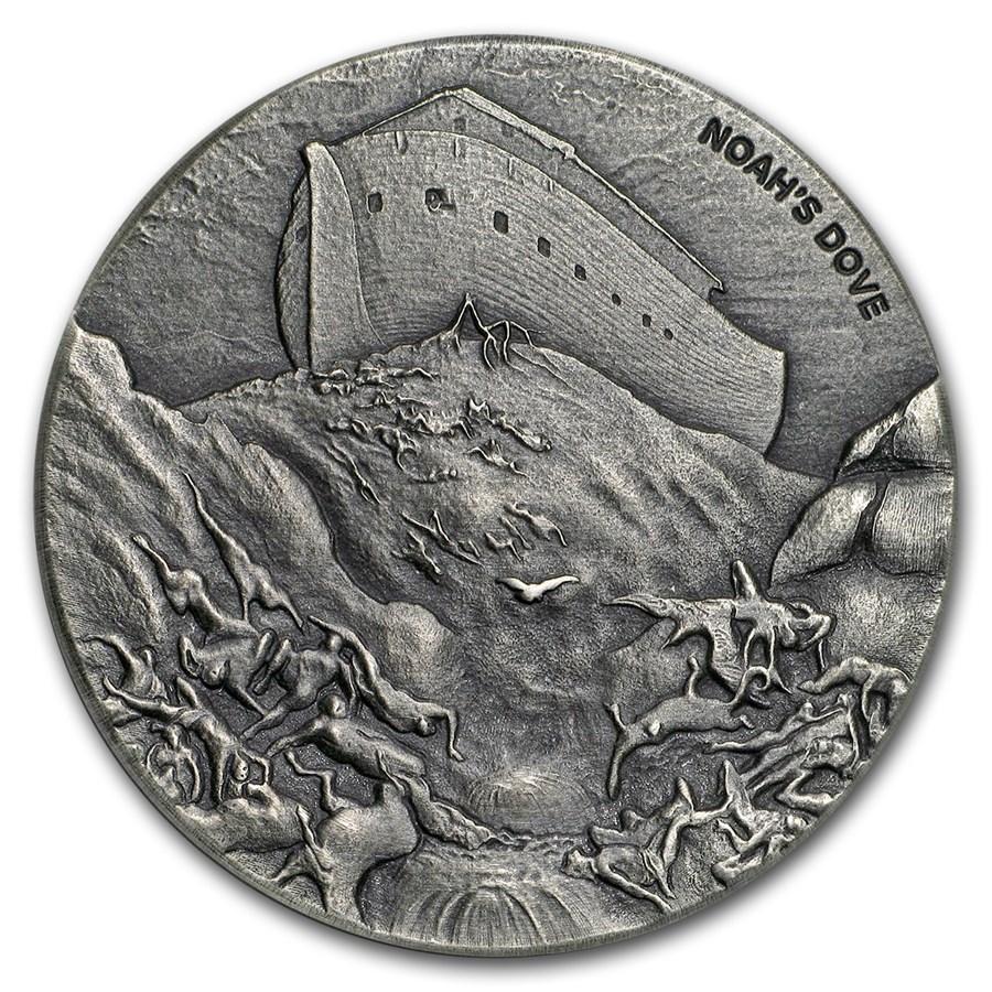 2018 2 oz Silver Noah's Dove Coin