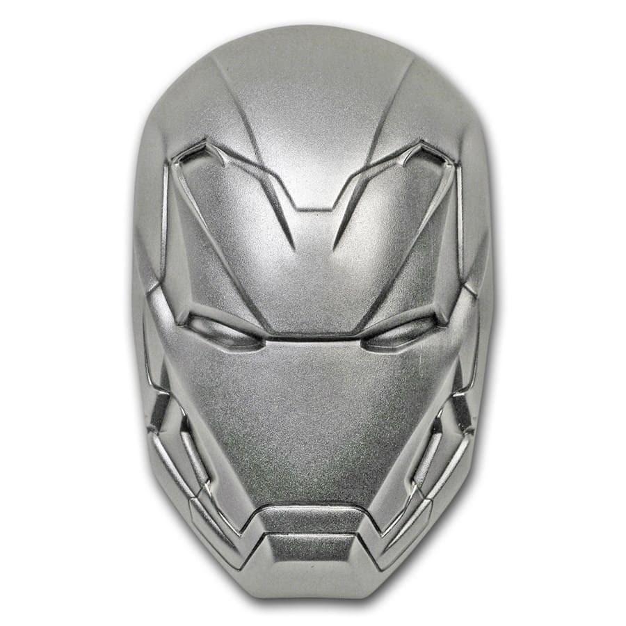 2019 2 oz Silver Marvel Icon Series Iron Man Mask