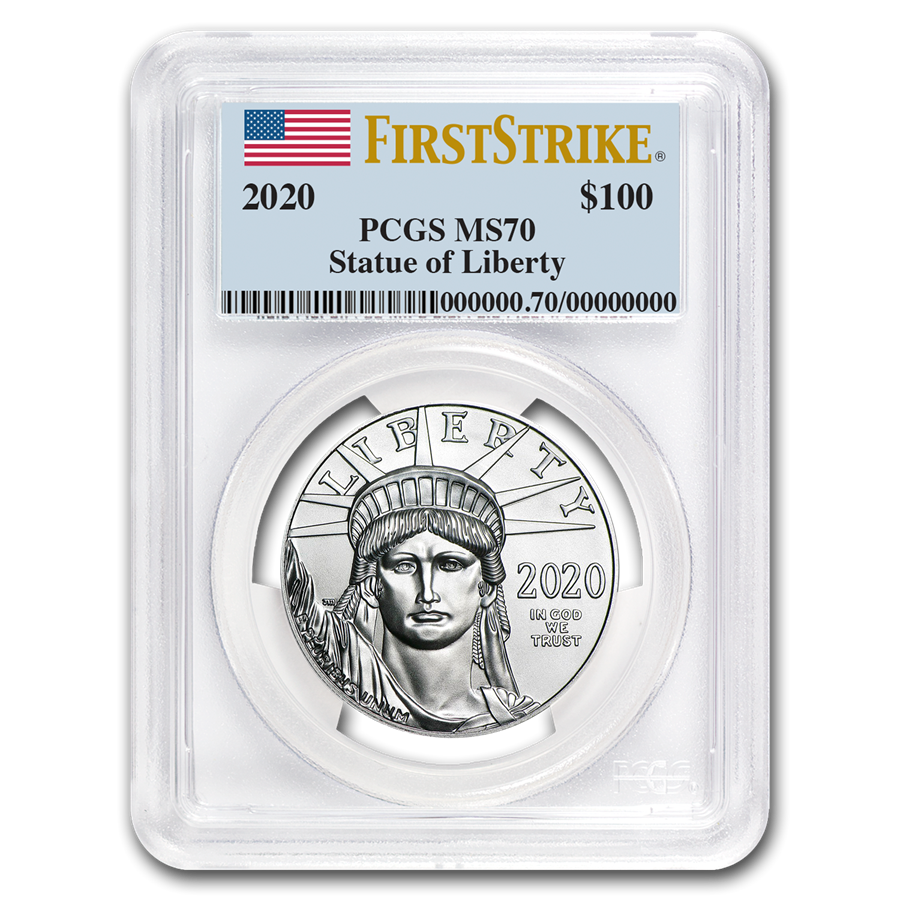 2020 1 oz American Platinum Eagle MS-70 PCGS (FirstStrike®)