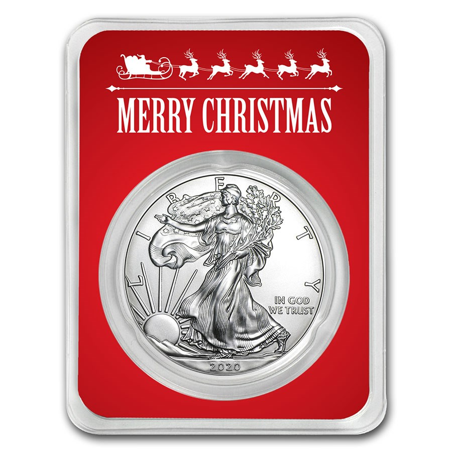 2020 1 oz Merry Christmas Silver American Eagle