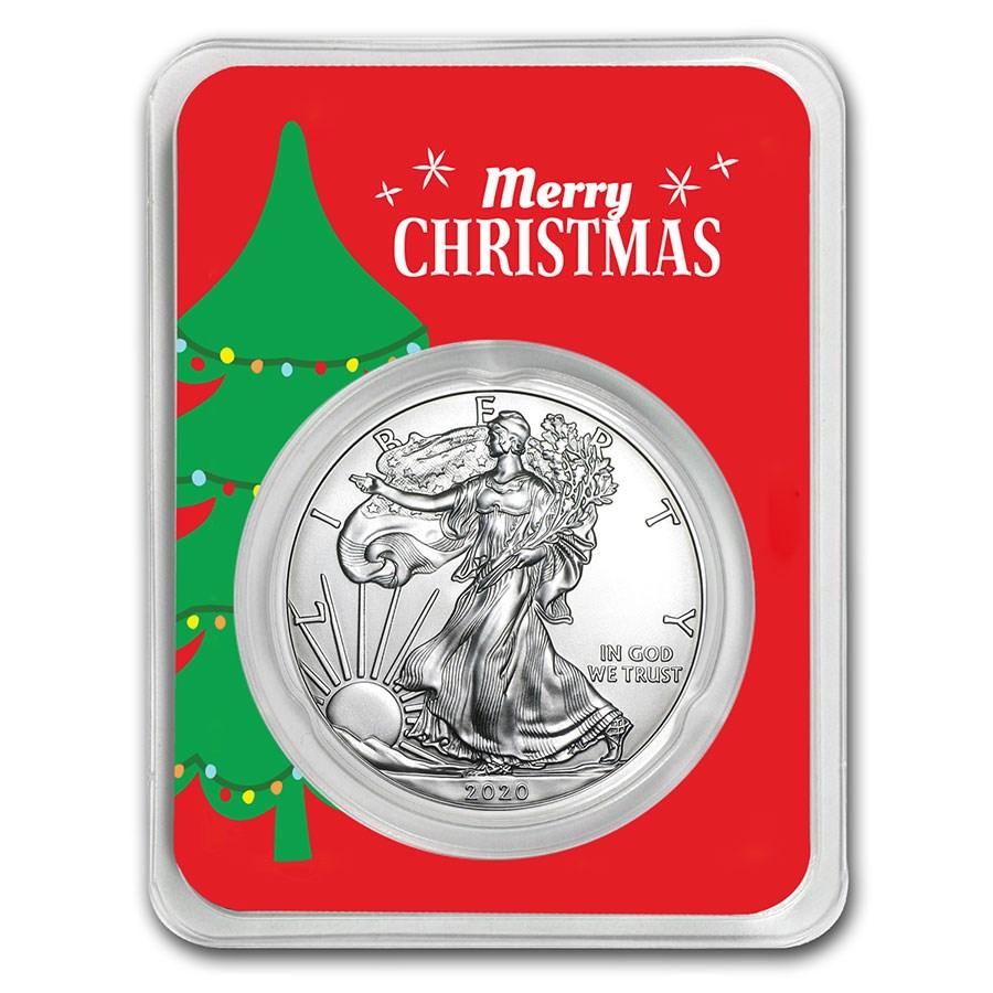 2020 Christmas Tree 1 oz Silver American Eagle
