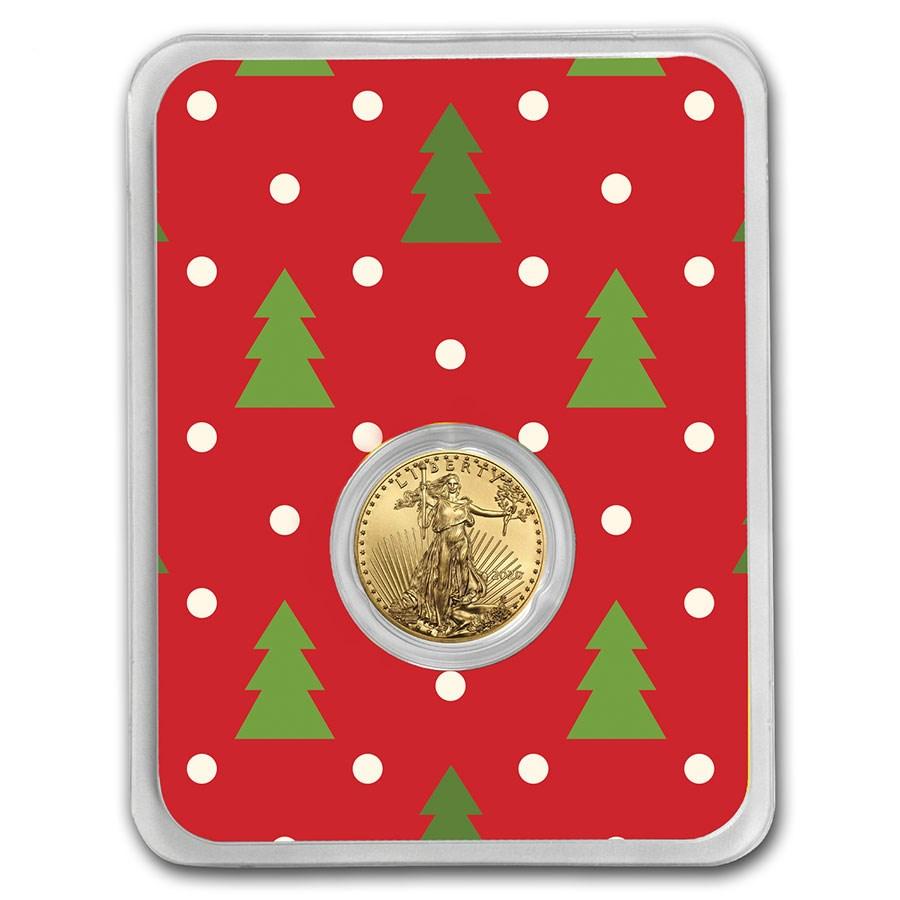 2020 1/10 oz Gold American Eagle - Christmas Trees