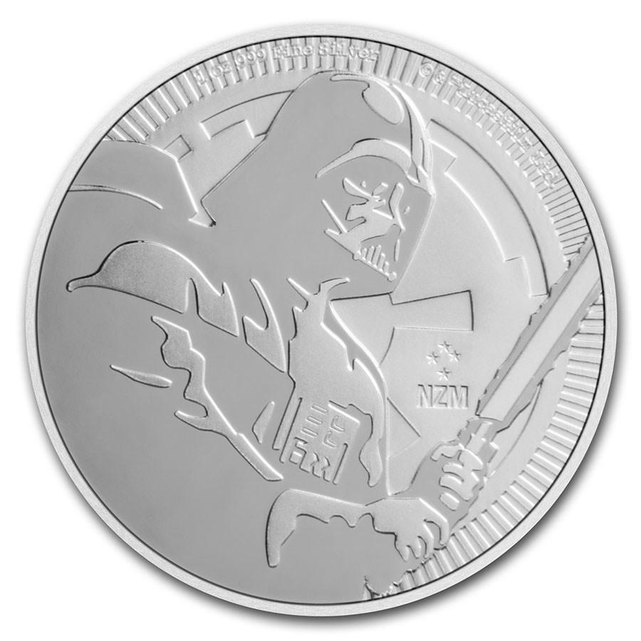2020 Niue 1 oz Silver $2 Star Wars: Darth Vader BU