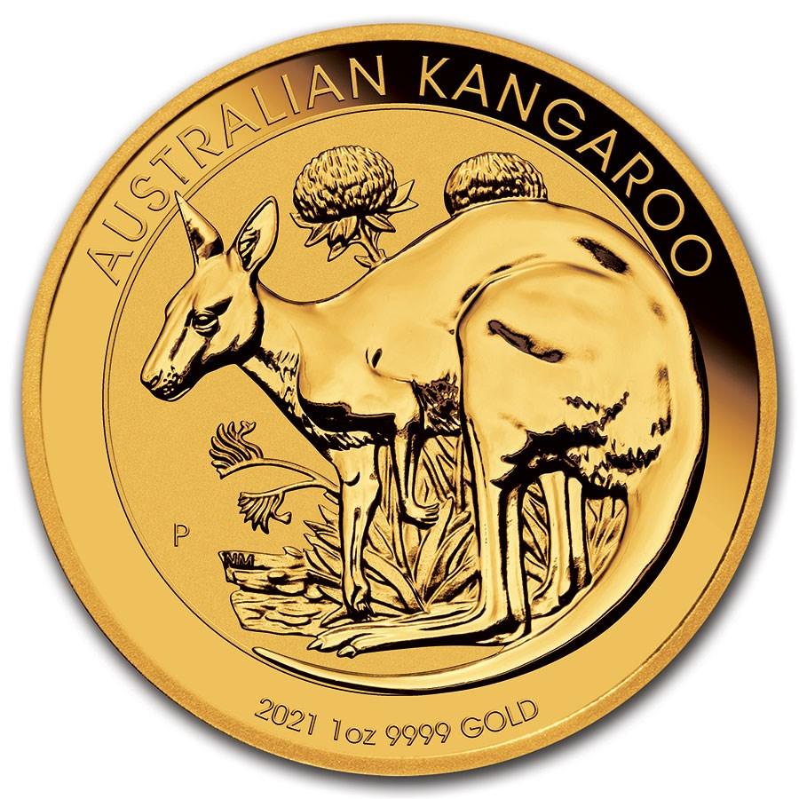 2021 Australia 1 oz Gold Kangaroo BU