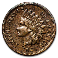 The 1864-L Indian Head Cent