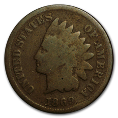 The 1869 Indian Head Cent