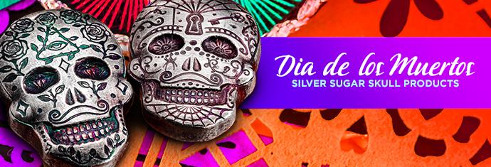 Silver Sugar Skulls