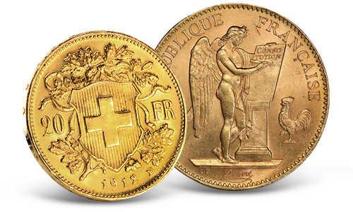 France Gold 20 Francs Lucky Angel AU