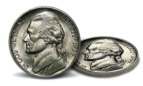 1939 Jefferson Nickels contain no SIlver