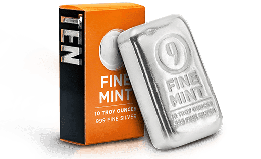 9Fine Silver Bar and Packaging
