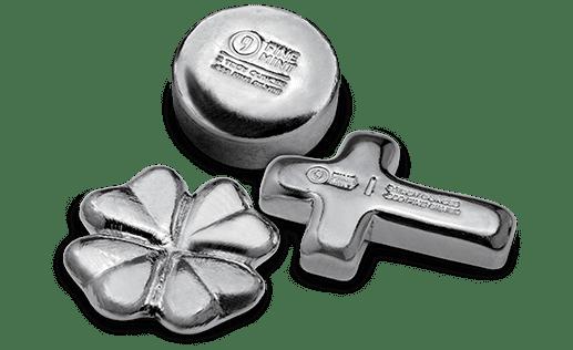 9Fine Mint Poured Silver
