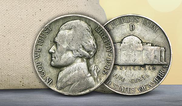 1945 Silver War Nickels