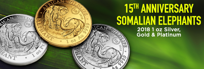 Gold, Silver and Platinum Somalian Elephants