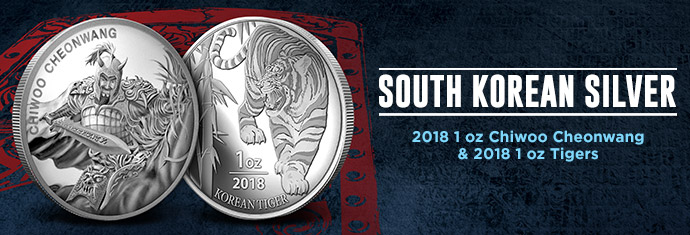 South Korean Silver Chiwoo Cheonwang and Tiger