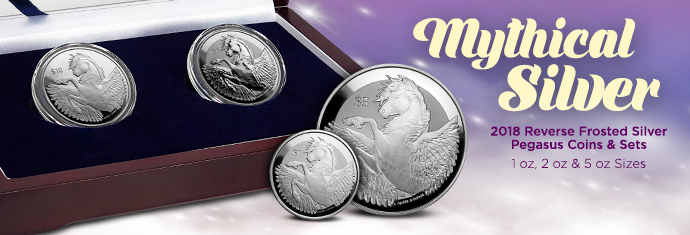 2018 Reverse Frosted Silver Pegasus Coins