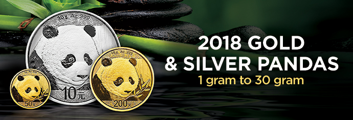 2018 Silver and Gold Pandas