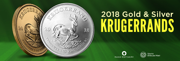 2018 Gold and Silver krugerrand