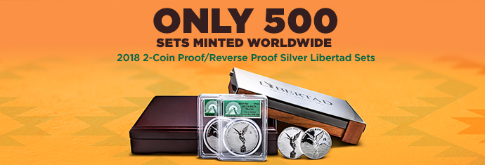 2018 2-Coin Proof/Reverse Proof Silver Libertad Set