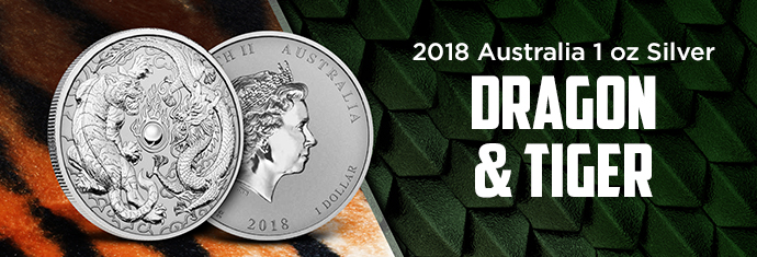2018 1 oz Silver Dragon & Tiger