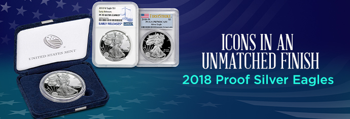 2018 Proof Silver Eagles