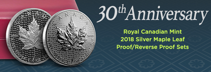 30th Anniversary 2018 Canadian Silver Maple Leaf