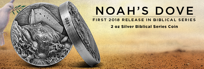 Noah's Dove 2-Ounce Silver Coin