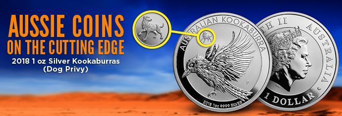 2018 1 Ounce Silver Kookaburra Dog Privy