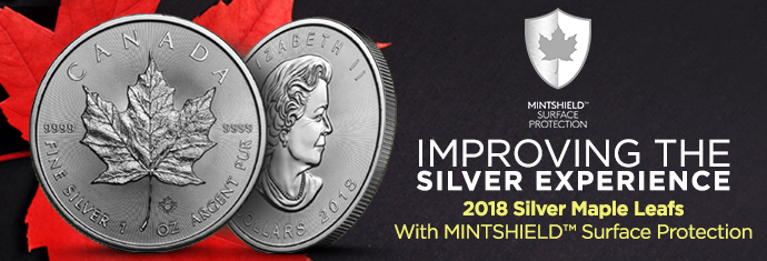 2018 Silver Maple Leafs with MINTSHIELD