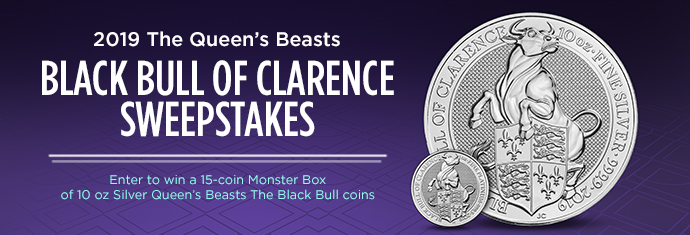 The Queen's Beasts Black Bull of Clarence Sweepstakes