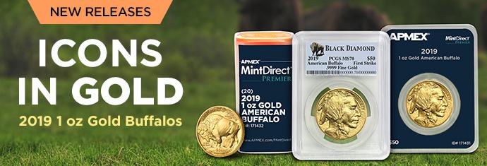 2019 1 oz Gold Buffalos