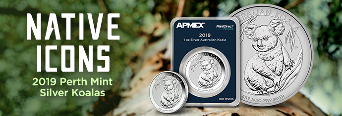 Perth Mint Silver Koalas 2019