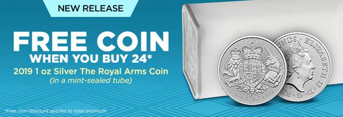 2019 1 oz Silver The Royal Arms Coin