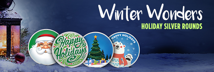 Winter Wonders Holiday Silver Rounds