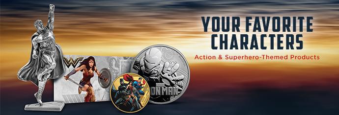 Superhero coins